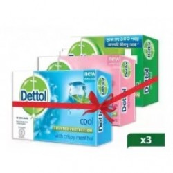 Detol Soap Family Pack 75 gm -3pcs