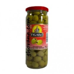 Green Olives Figaro Pitted(With Seed) 340 GM.